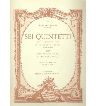6 Quintetti (G.301...