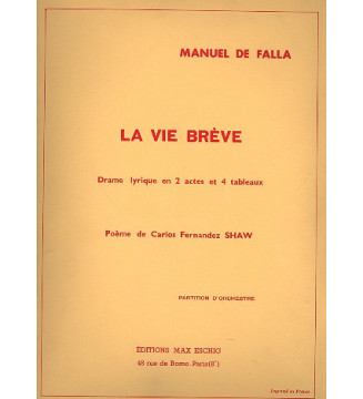 Vie Breve In 4 Orchestre