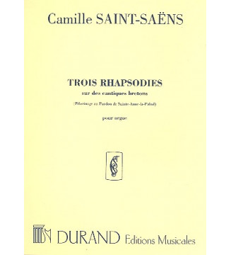 Rhapsodies (3) Op 7  Orgue...