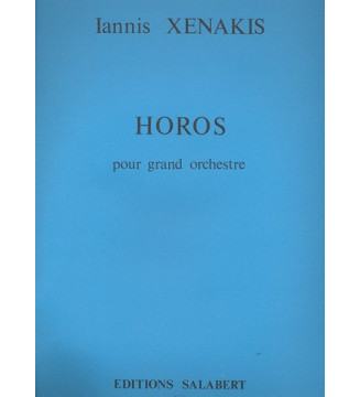 Horos Orchestre Partition