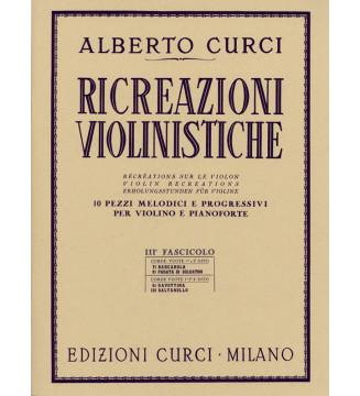 RICREAZIONI VIOLINISTICHE,...
