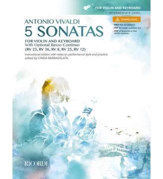 5 Sonatas for violin and...