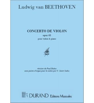 Concerto Op 61 Vl/Piano