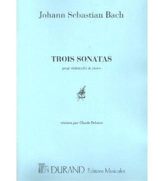 3 Sonates Vc Et Piano (Bwv...