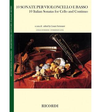 10 Sonate per violoncello e...