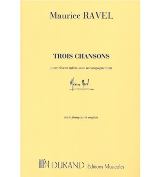 3 Chansons Pour Choeur...