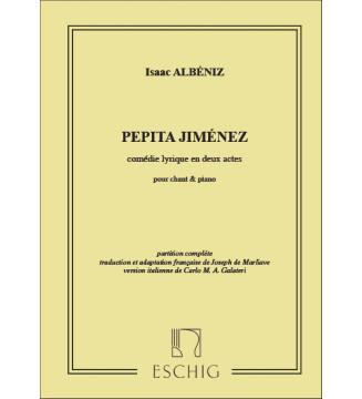 Pepita Jimenez Chant/Piano...