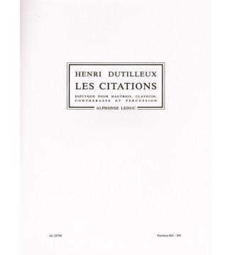 Henri Dutilleux: Les Citations