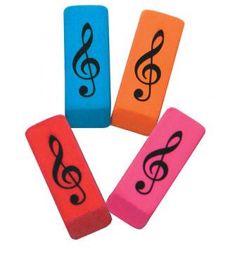 Wedge Eraser Treble Clef -...