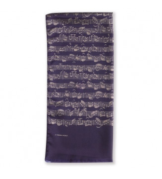 Silk scarf Sheet music blue