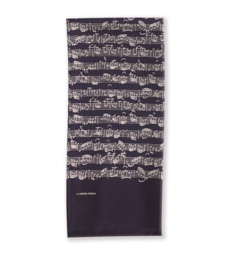 Silk scarf Sheet music black