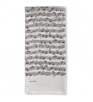 Silk scarf Sheet music chamois