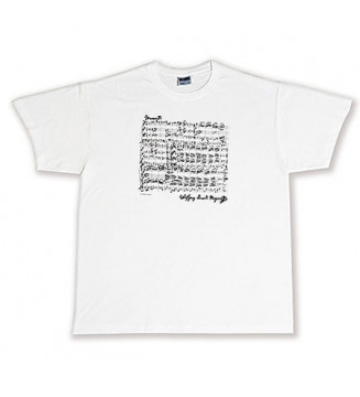 T-Shirt Mozart white L