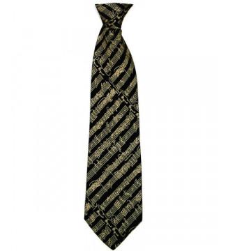 Silk Tie Black Mozart