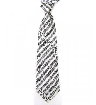 Silk Tie White Mozart