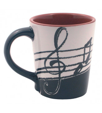 Latte Mug: Music Notes