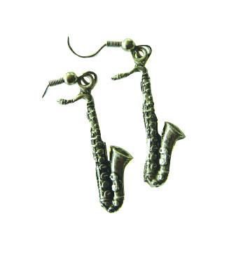 Earrings Saxophone