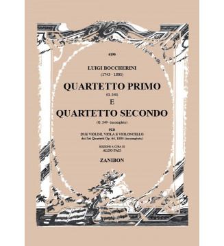 Quartetto i (G. 248) e Ii...