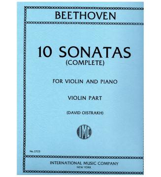 10 Sonatas - Violin Parts