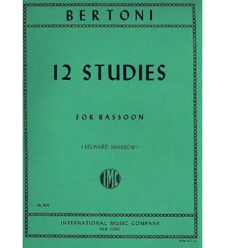 12 studies for bassoon