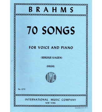 70 songs for voice and piano