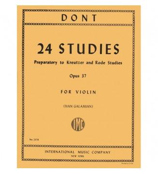24 studies op 37 Galamian
