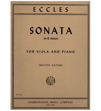 Sonata in G minor for viola...