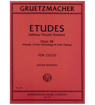 Etudes op 38 vol 1 for cello