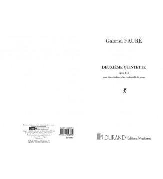 Deuxieme Quintette, Opus 115