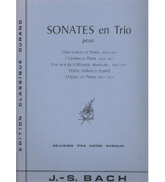 Sonates En Trio   (Bwv...