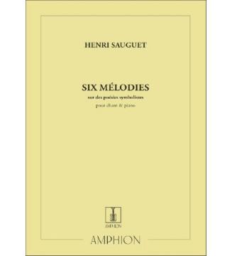 6 Melodies Sur Des Poemes...