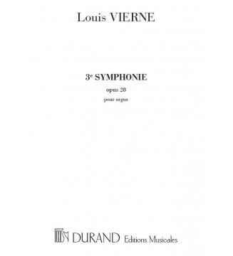 Symphonie n 3 Op 28 Orgue