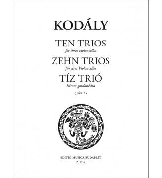 Zehn Trios (aus Tricinien...
