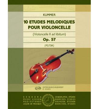 10 etudes melodiques op. 57...